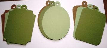 Chipboard &quot;charms&quot; with cardstock covers mini  album Green  CM42