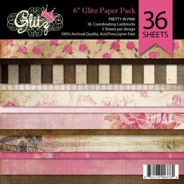 Glitz Pretty in Pink 6x6 paper pad