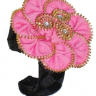 Zipper Flower Cuff Hot New Item Boutique