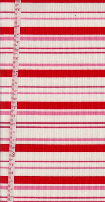 0.5 m/y Japanese cotton canvas stripes