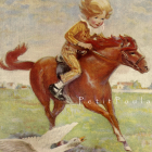 1923 Jessie Wilcox Smith Bookland Lithograph, 'Jackanapes'