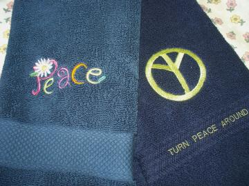 Embroidered Towels by Everything Else on Zibbet