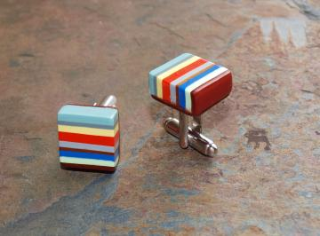 Striped Cufflinks