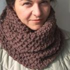 Knitting PATTERN PDF Beginner DIY Unisex Cowl Chunky Scarf for Him For Her wool easy hooded scarf- fall autumn winter accessories - Patterns