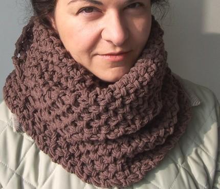 Knitting PATTERN PDF Beginner DIY Unisex Cowl Chunky Scarf for Him For