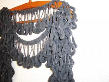 Hand Crochet Scarf- Fall autumn winter Accessories -Gray  Mulberry Scarf No11 Grey Cocoon Scarf   - Womens scarf- Curly- Christmas gift