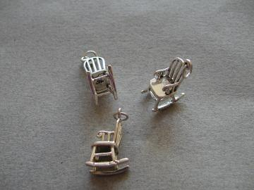 SS Round Back Rocking Chair Charm