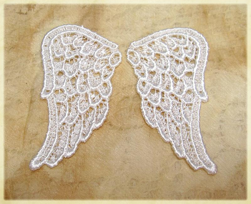 Handmade Venise Lace Sequins beaded Applique Trim Motif Light Blue