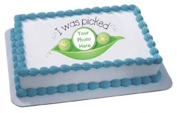 Adoption Edible Image Cake Topper by DecoPac with PHOTO - ROUND OR RECTANGLE