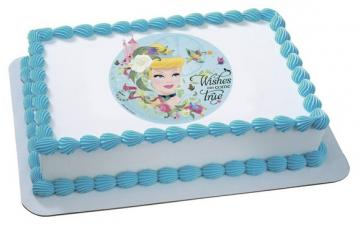 Disney Princess Cinderella Edible Image Cake Topper by DecoPac - ROUND OR RECTANGLE