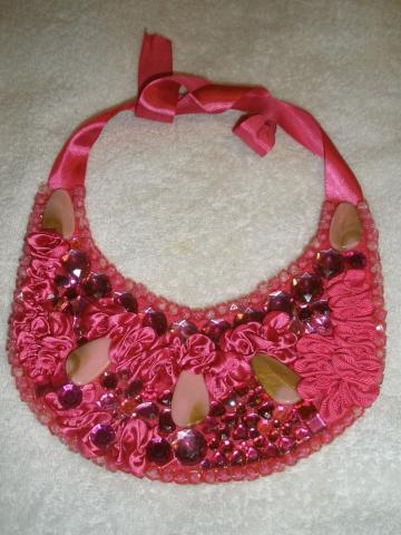 Ruffle Jewel Bib Necklace