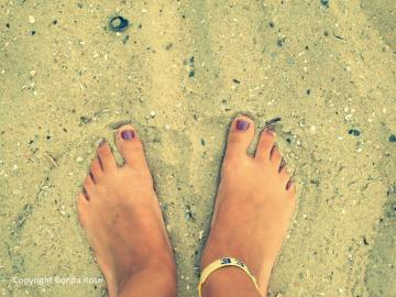 Ocean Photography - Toes In The Sand  8x10