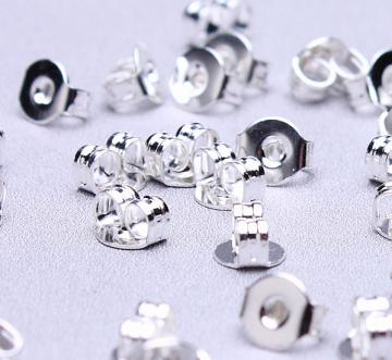 50 Earring back stopper 50pcs earring stoppers earnuts 5x4mm (494)