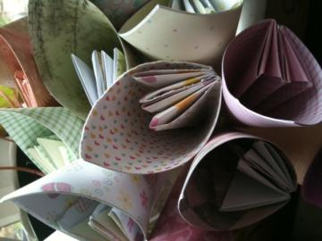 Beautiful recycled paper flowers - single petal
