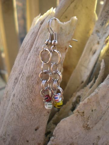 Beads and Jump Rings Earrings