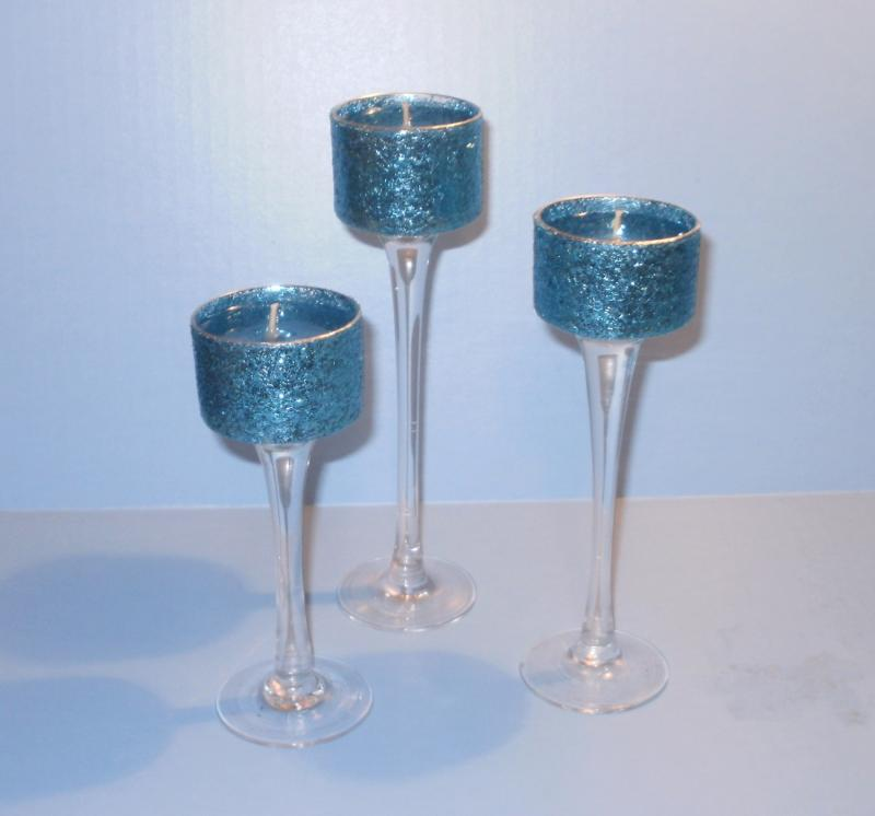Turquoise Wedding Centerpieces Gel Candle Trio Enlarge Image Share Item