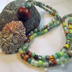 Green Man Nature Necklace