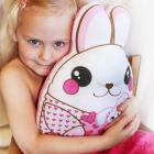 Pink Bunny Rabbit, Baby Toy, Plush toy, Minky pillow, Stuffed animal, pillow