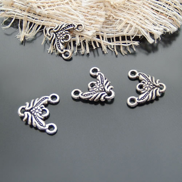 50pcs Antique Silver Connector Filigree Pendant Ch