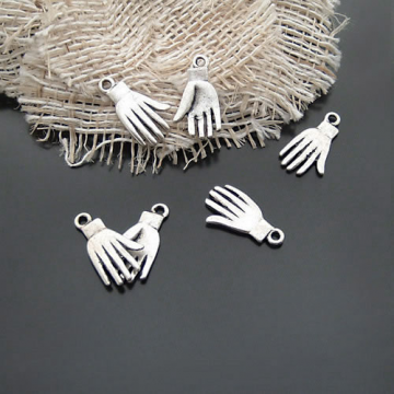 50pcs Antique Silver Hand Filigree Pendant Charm D