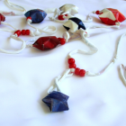 Stars Spangled Junk Mail Jewels Holiday Garland
