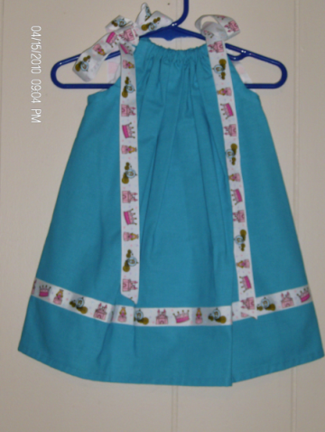 Turquoise Princess Boutique Pillowcase Dress