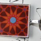 Resin Silver Pendant with Maroon 3