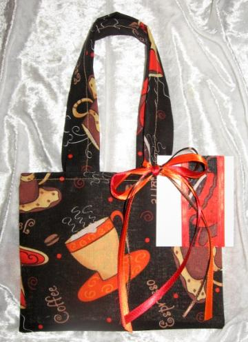 Cappuccino / Reusable Fabric Gift Tote / Ex Small / With Gift Tag