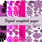 5 Digital scrapbook papers