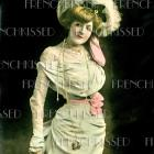 DIGITAL Scan Victorian American actress FASHION haute couture Southern Belle Color tinted Real Photo postcard download