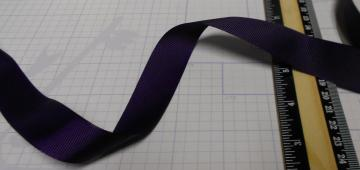 "7/8"" Deep Purple Grosgrain Ribbon 3 Yards"