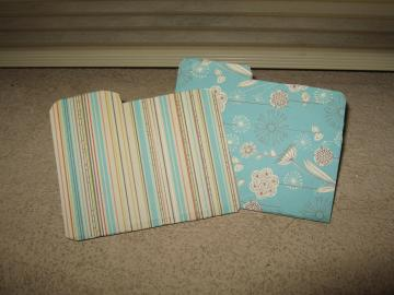 Blue Striped AG Size Folders