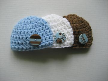 3-pack Coordinating Baby Boy Beanies