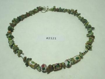 Unakite NECKLACE Metaphysical Stability, Enhancement