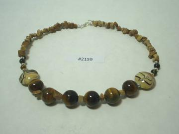 Tiger Eye Necklace Metaphysical calmness, releasing inhibitions