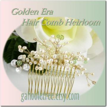 Golden Era Bridal Heirloom Hair Comb