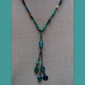 Peacock Jade Fiesta Cluster Necklace