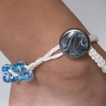day at the beach macrame anklet