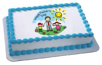 Happy Father's Day Edible Image Cake Topper by DecoPac - ROUND OR RECTANGLE