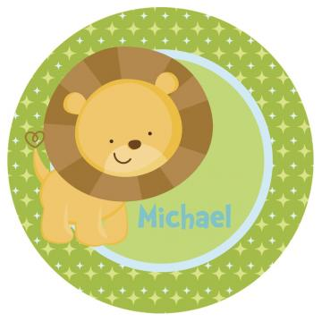 Lion Safari Personalized Kid-Safe Melamine Plate