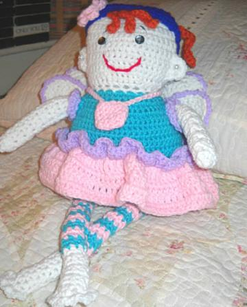 Tabitha the Tooth Fairy Crocheted  Doll