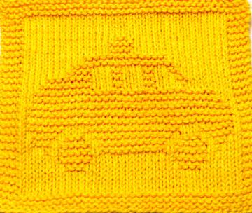 Knitting Cloth Pattern - TAXI - PDF