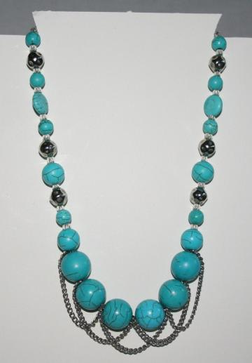 funky blue necklace