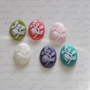 10x18mm  Craft Flower Cameo