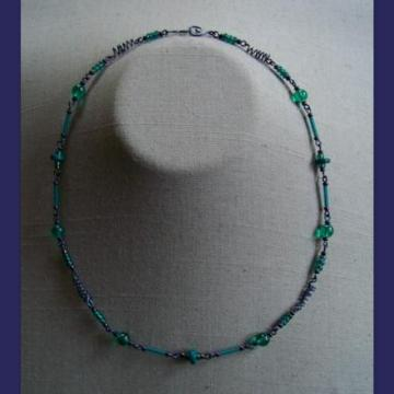Blue Teal Tendrils Necklace