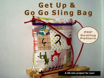 A 60-min Get Up & Go Go Sling Bag - PDF Sewing Pattern And Tutorial