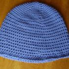 Blue Crochet Acrylic Adult/Teen Beanie