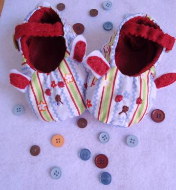 Bunny Fabric Shoes Handmade For Baby