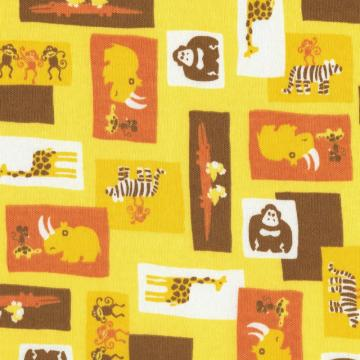 WILD ONES, Cotton Interlock Knit Fabric, by the Yard