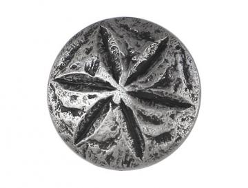 2 Sand Dollar Metal Shank Buttons 1 inch ( 25 mm ) Color: Antique Silver